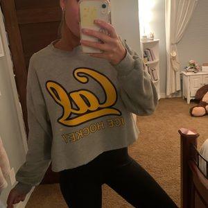 Sweaters - Cropped CAL hockey sweatshirt